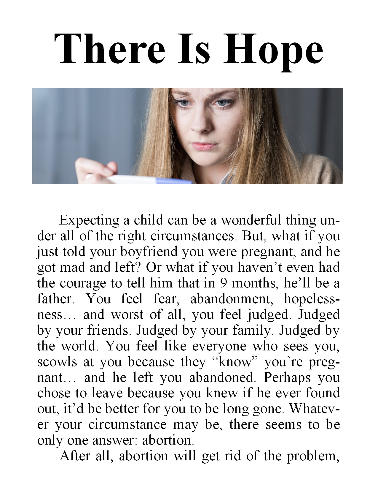 Image of tract: There is Hope