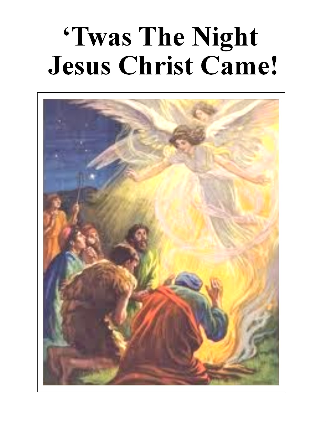 Image of tract: 'Twas the Night Jesus Came